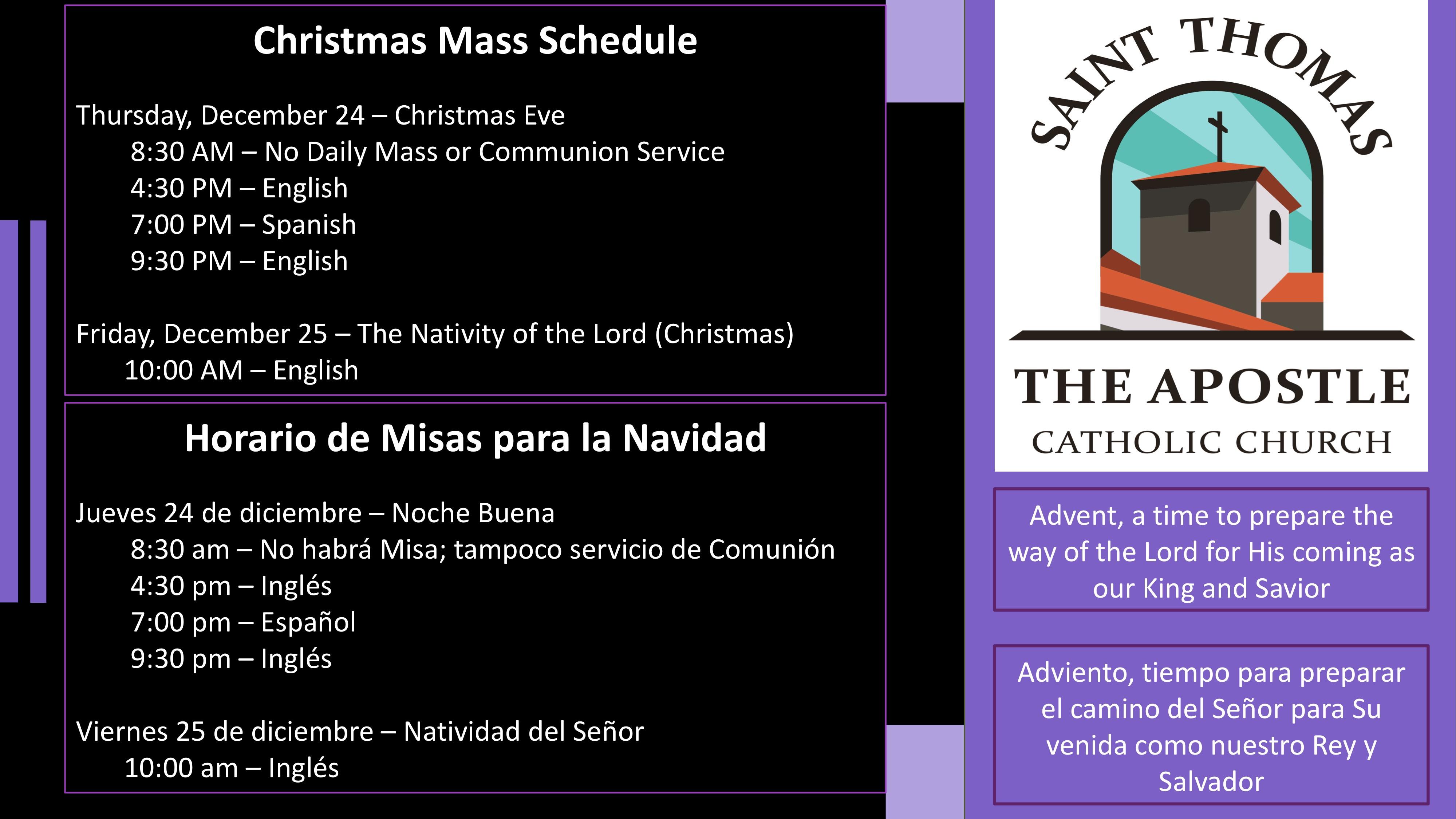Advent Schedule
